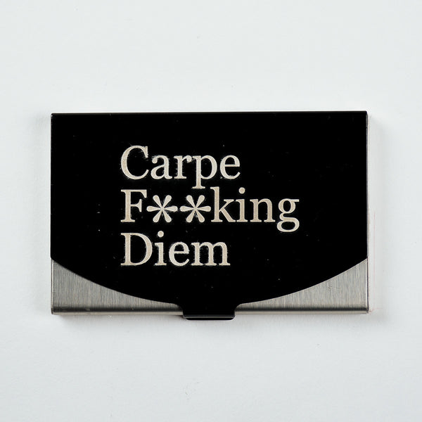 Carpe Diem - Engraved Card Holder