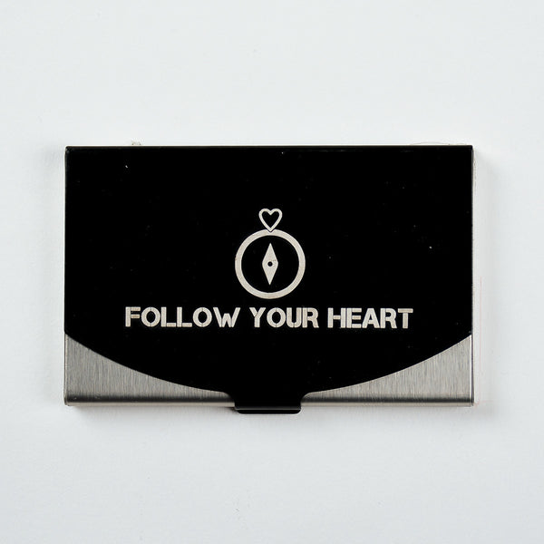 Follow Your Heart - Engraved Card Holder
