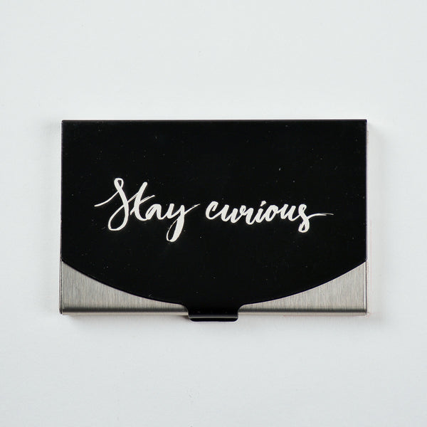 Stay Curious - Engraved Card Holder