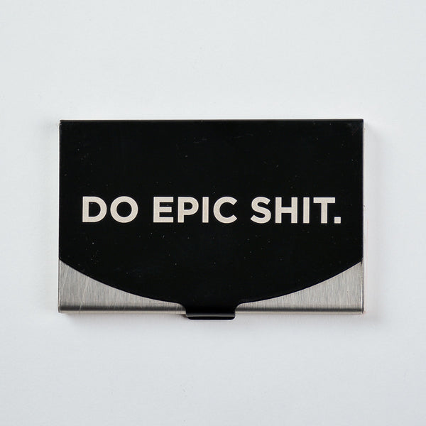Do Epic Shit - Engraved Card Holder