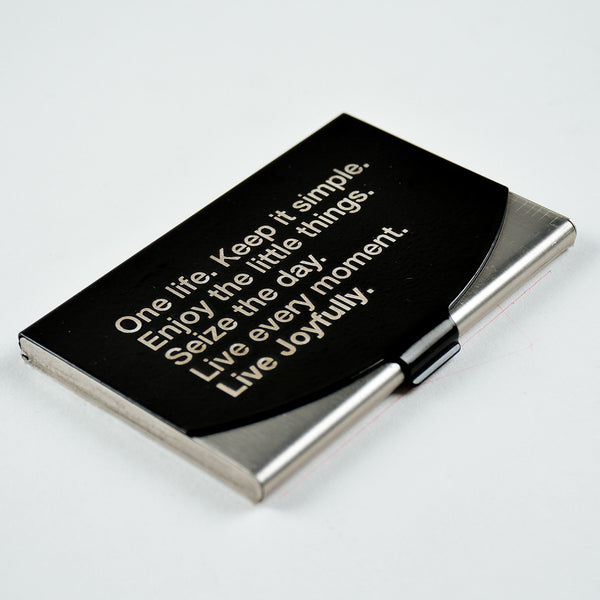 Manifesto black - Engraved Card Holder - LetterNote - 2