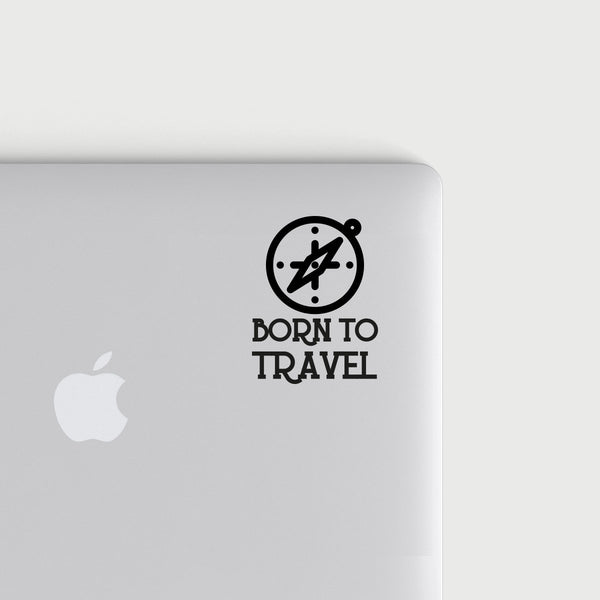 Born To travel decal - Black