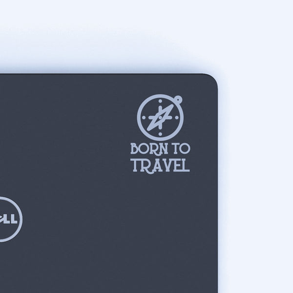 Born To Travel Decal - Silver
