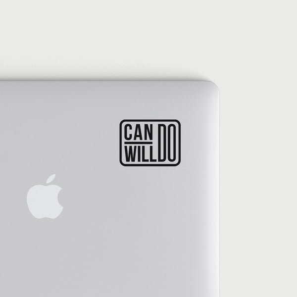 Can Do Will Do decal - Black
