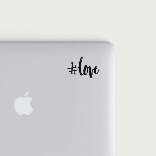 #love decal - Black