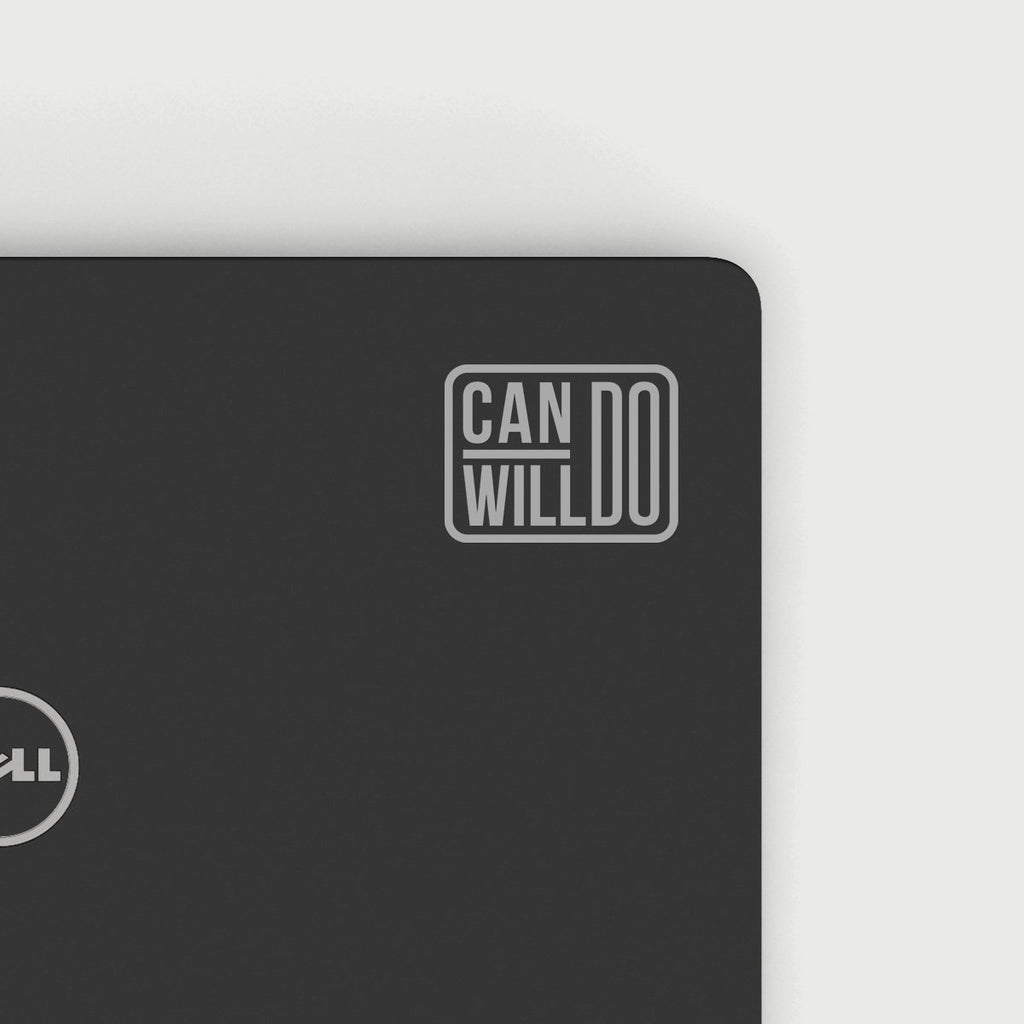 Can Do Will Do Decal - Silver