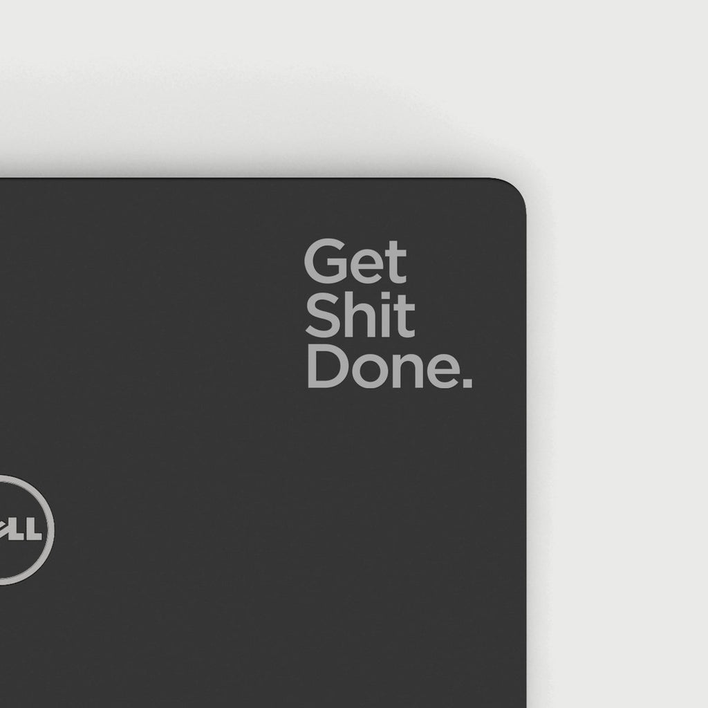 Get Shit Done Decal - Silver