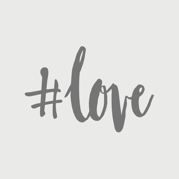 #love Decal - Silver