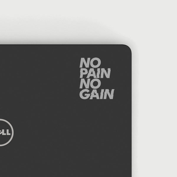 No Pain No Gain Decal - Silver