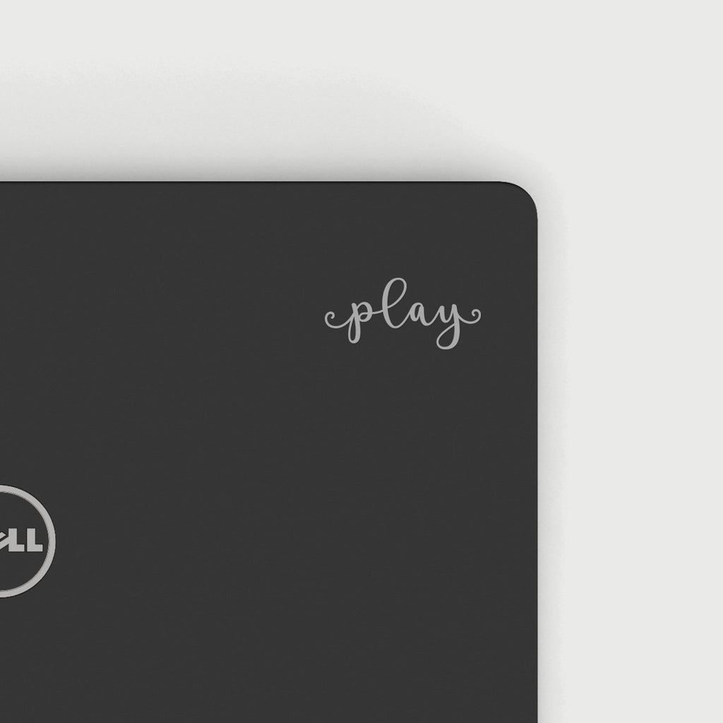 play Decal - Silver