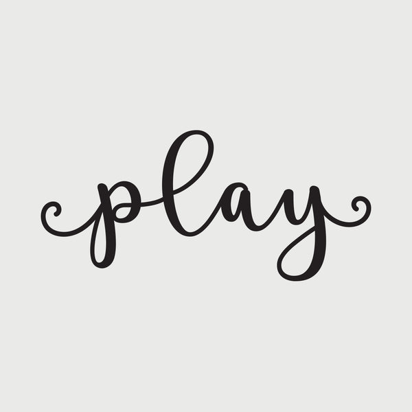 play decal - Black