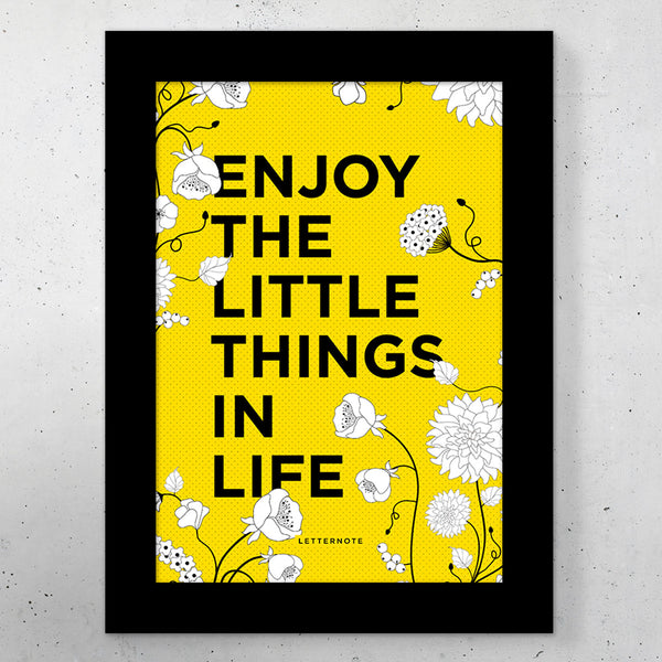 "Enjoy Little Things Small Frame (5"" x 7"") - LetterNote - 2"