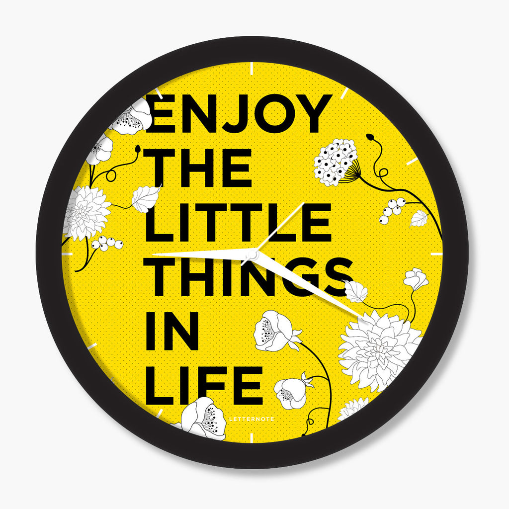 Enjoy Little Things - Big Clock