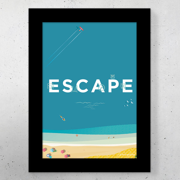 "Escape Travel Small Frame (5"" x 7"") - LetterNote - 2"