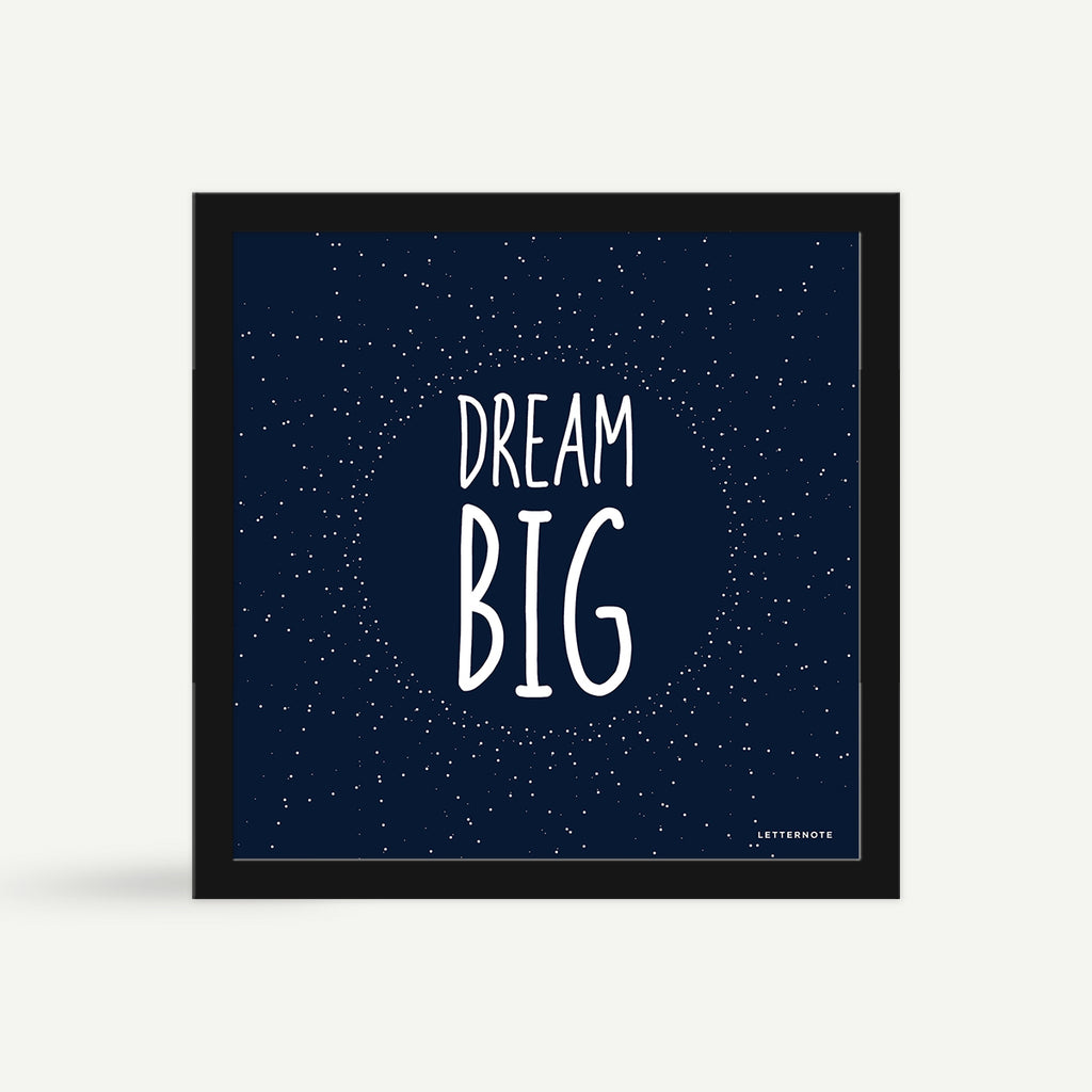 Dream Big Framed Art - Square
