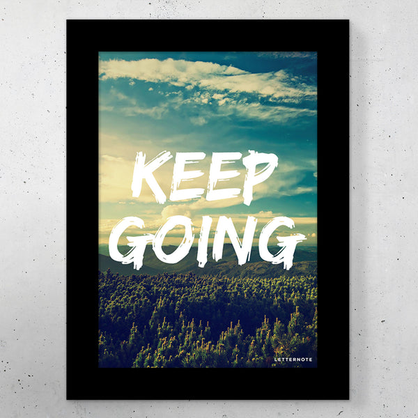 "Keep Going Small Frame (5"" x 7"") - LetterNote - 2"