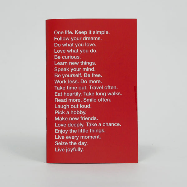 The LetterNote Manifesto Pocket Notebook - 3.5 in x 5.5 in