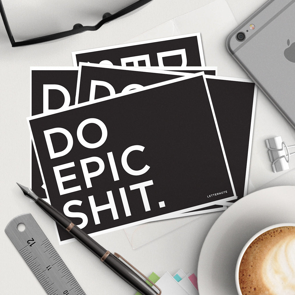 Do Epic Shit Notecards (Set Of 2)