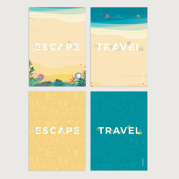 Travel Escape Notecards - LetterNote - 2
