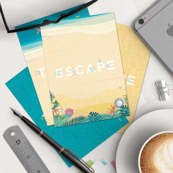 Travel Escape Notecards (Set of 2)