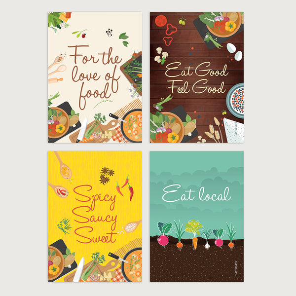 For The Love Of Food Notecards - LetterNote - 2