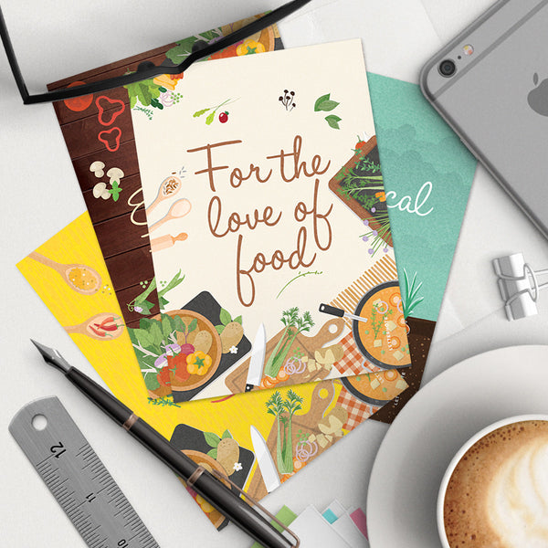For The Love Of Food Notecards (Set of 2)