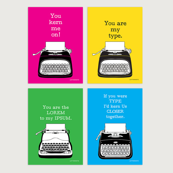 You Are My Type Notecards - LetterNote - 2