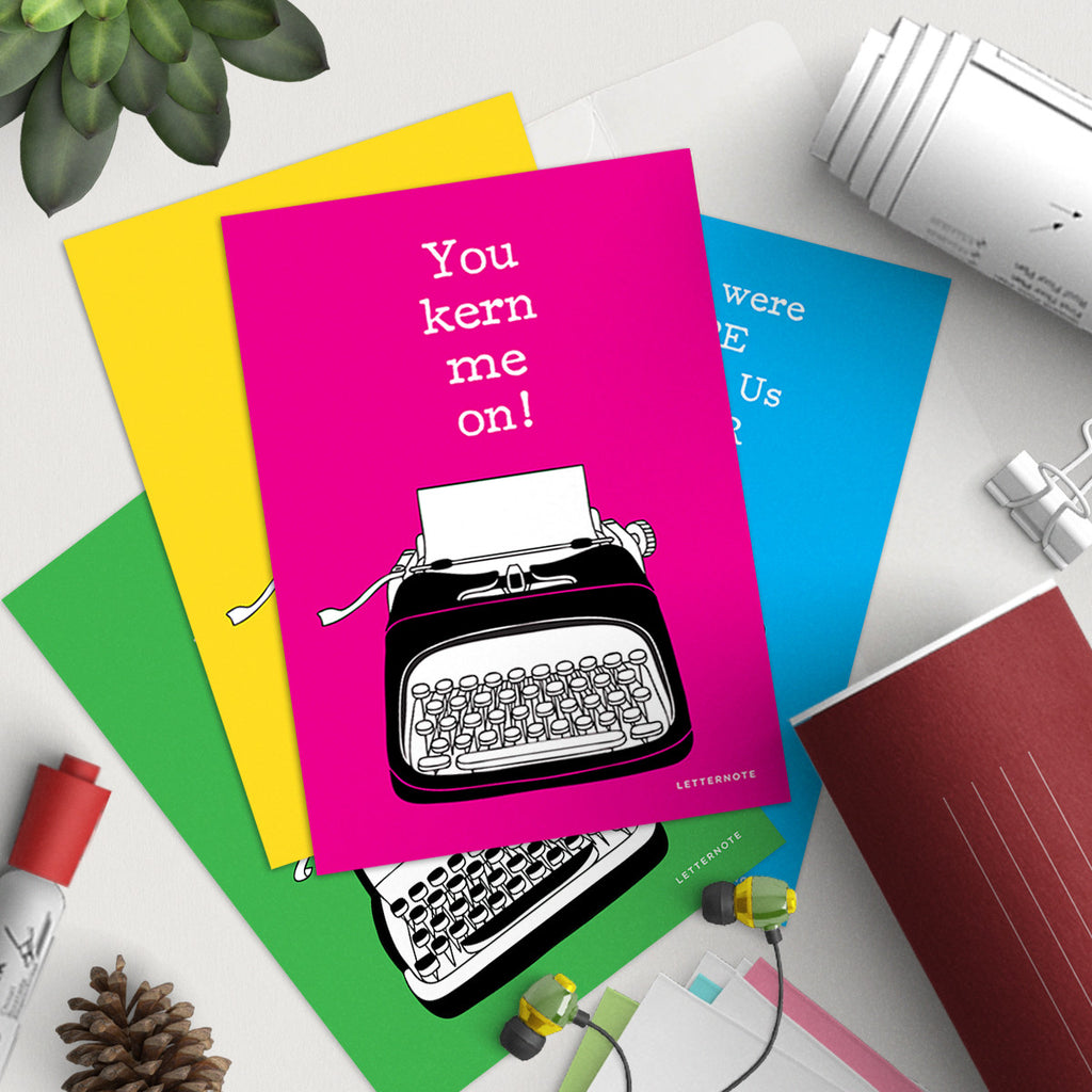You Are My Type Notecards (Set of 2)