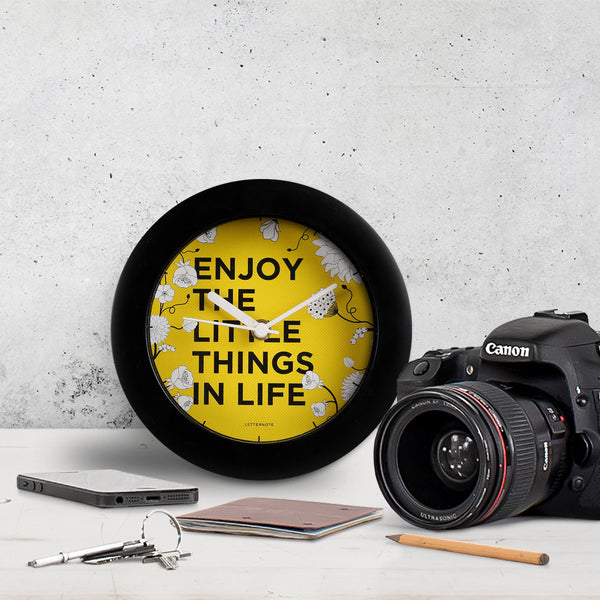 Enjoy the Little Things - Small Clock - LetterNote - 1