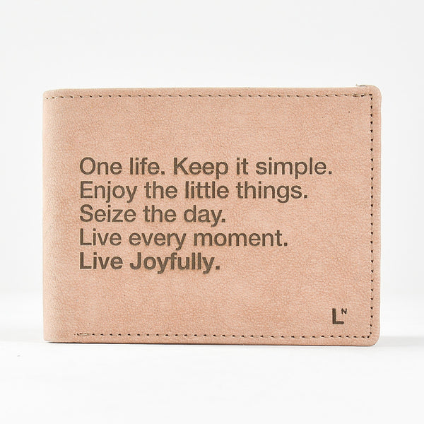 The LetterNote Manifesto Wallet