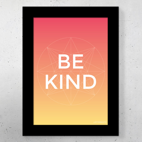 "Be Kind Small Frame (5"" x 7"")"