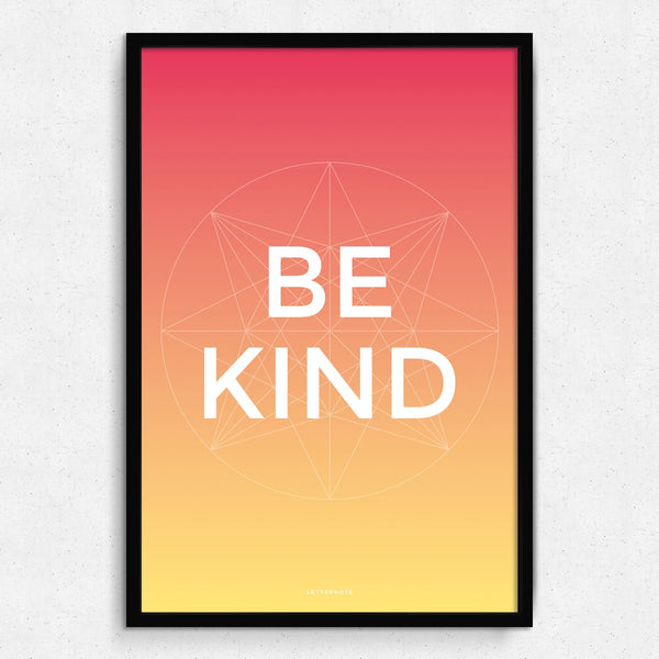 Be Kind Framed Art