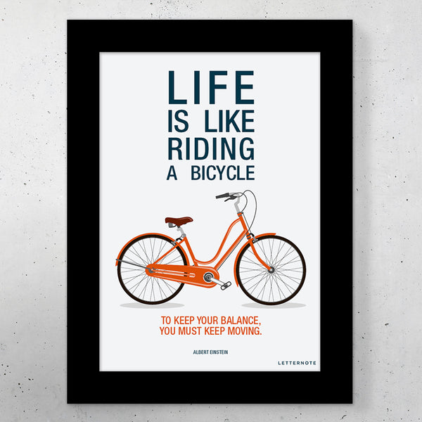 "Bicycle Small Frame (5"" x 7"") - LetterNote - 2"