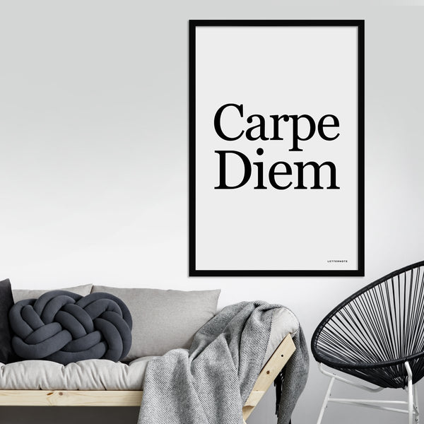 Carpe Diem Framed Art
