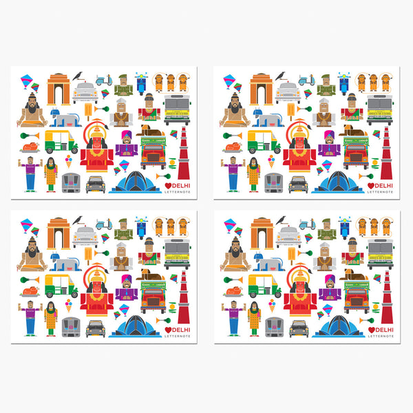 Delhi Icons Notecards - LetterNote - 2