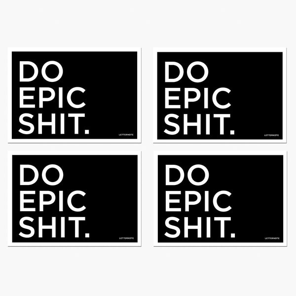 Do Epic Shit Notecards - LetterNote - 2