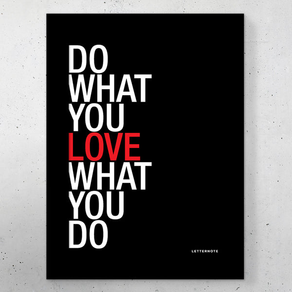 "Do What You Love Black Small Frame (5"" x 7"")"