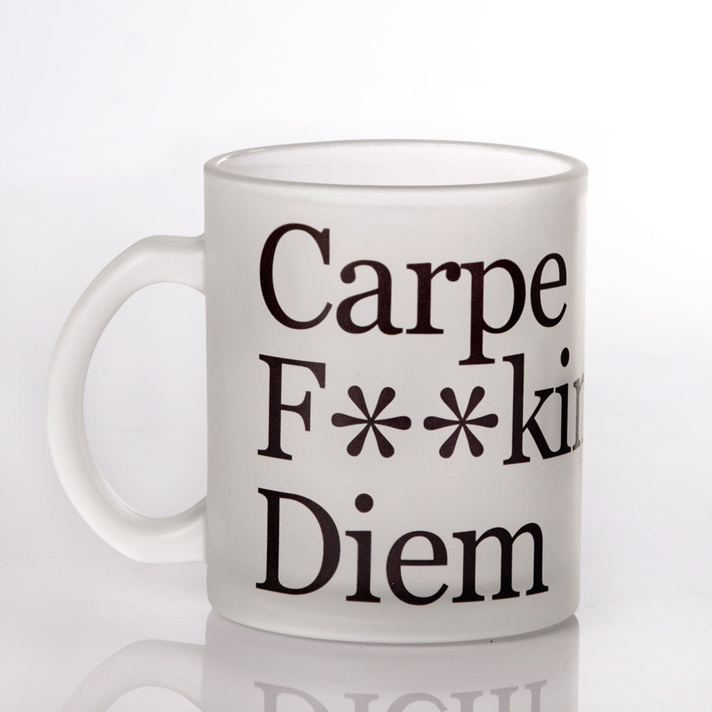 Carpe Diem Frosted Mug