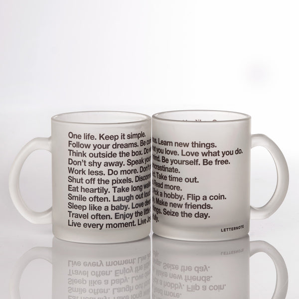 The LetterNote Manifesto Frosted Mug - LetterNote - 2
