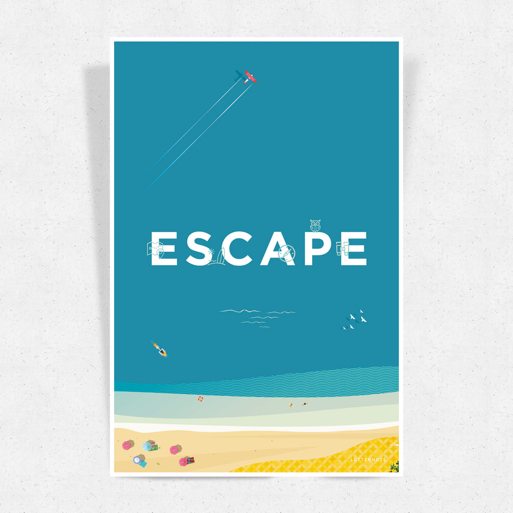Escape Travel Art Print