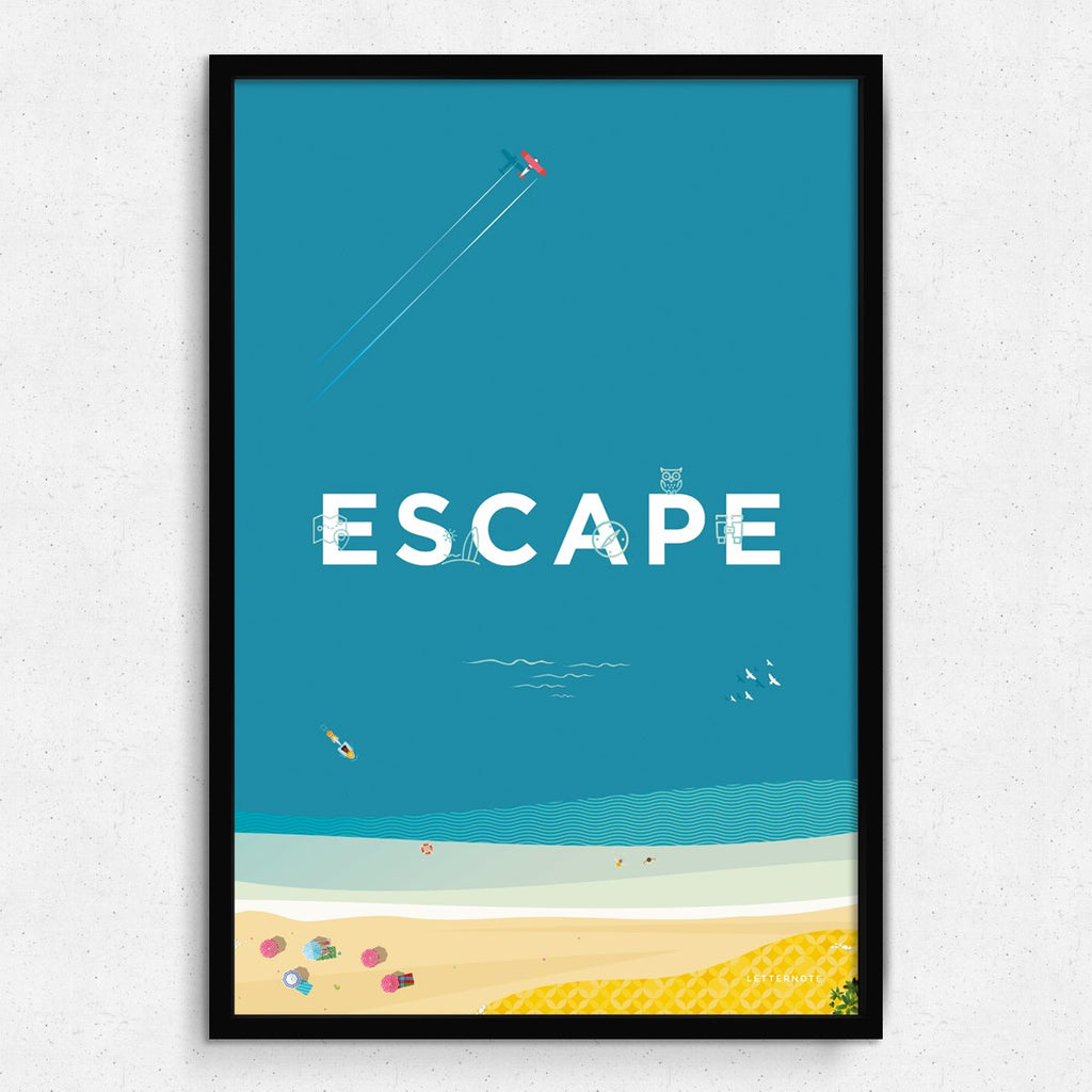 Escape Travel Framed Art