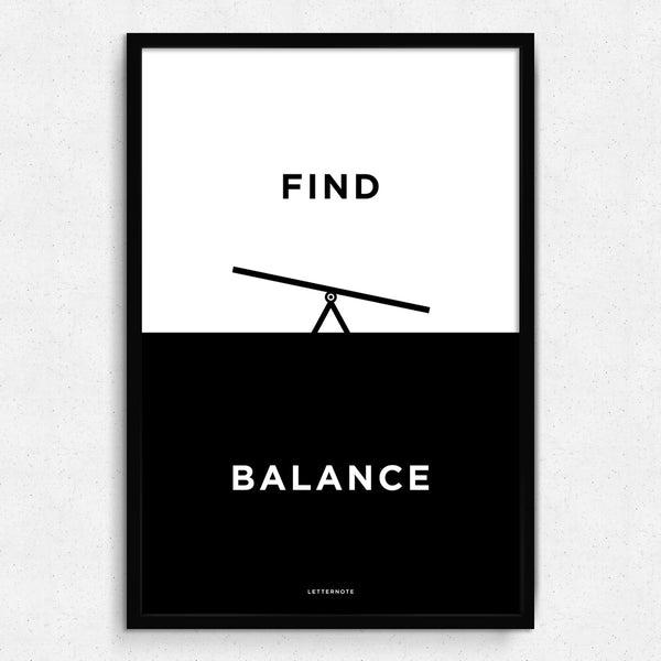 Find Balance Framed Art