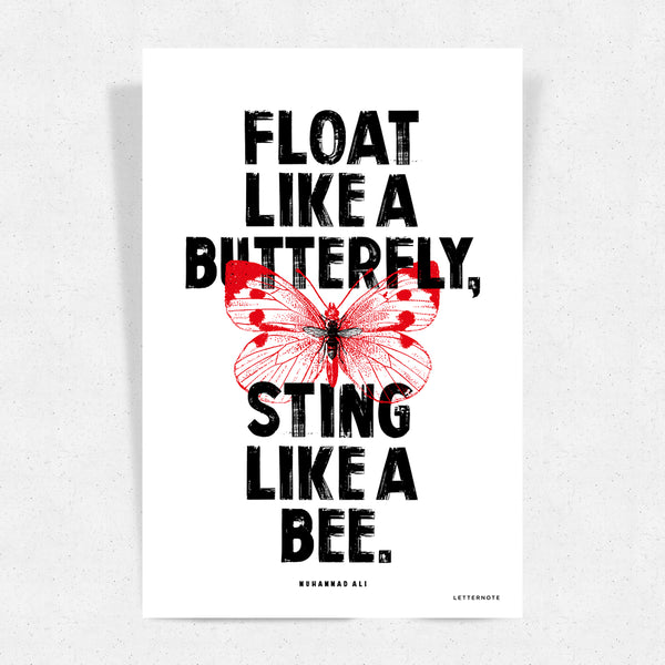 Butterfly and Bee Art Print