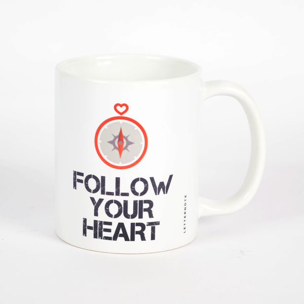 Follow Your Heart Mug - LetterNote - 2