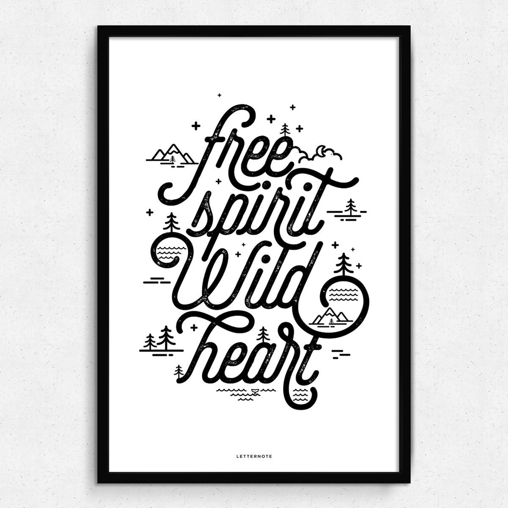 Free spirit Wild heart Framed Art
