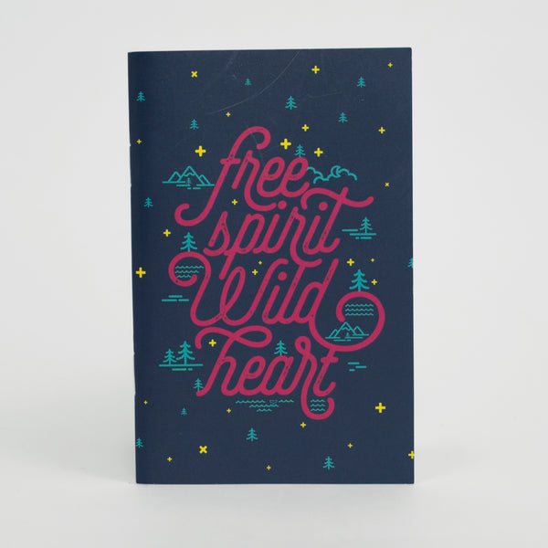 Free Spirit Wild Heart Pocket Notebook - 3.5 IN X 5.5 IN