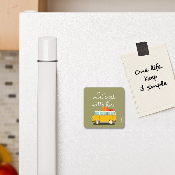 Let's Get - Fridge Magnet - LetterNote - 2
