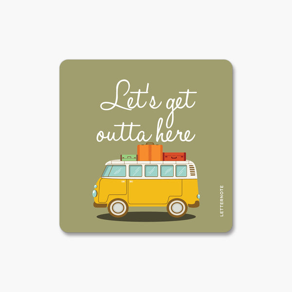 Let's Get - Fridge Magnet
