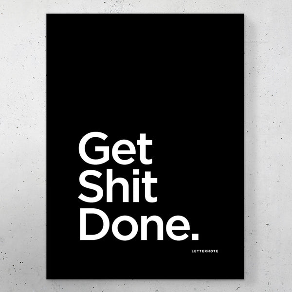 "Get Shit Done Small Frame (5"" x 7"") - LetterNote - 2"