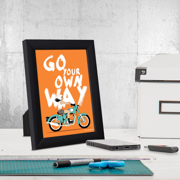 Go Your Own Way Small Frame (5